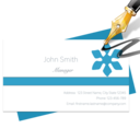Blue Penguin Business Card Designer logo